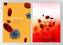 Infographic blodcell vektor illustrationer