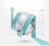 Infographic blue arrow diagram chart royalty free illustration