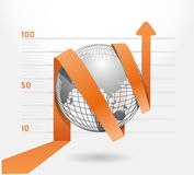 Infographic blue arrow diagram chart. Royalty Free Stock Image