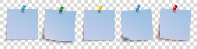 5 Blue Sticks Colored Pins Header Transparent Royalty Free Stock Photos