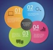 Infographic-Blumen-Papier lizenzfreie abbildung
