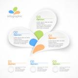 Infographic-Blumenblattelemente Lizenzfreies Stockbild