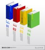 Infographic bok Arkivfoton