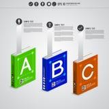 Infographic bok Royaltyfri Bild