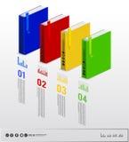 Infographic bok Royaltyfri Fotografi