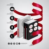 Infographic bok Royaltyfri Foto
