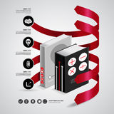 Infographic bok Royaltyfria Bilder