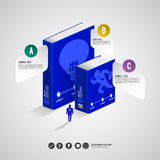Infographic bok Arkivfoto