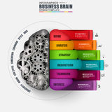 Infographic brain vector design template Royalty Free Stock Images
