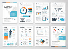 Infographic brochure elements for business data visualization Stock Image