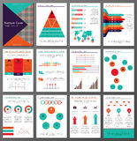 Infographic brochure and flyer design templates set Stock Images