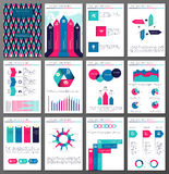 Infographic brochure and flyer design templates set Royalty Free Stock Images