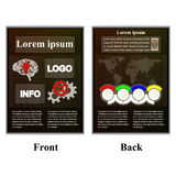 Infographic brochure with map of the world Royalty Free Stock Photography