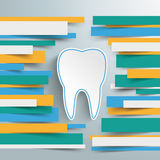 Infographic Brochure Paper Lines Tooth Royalty Free Stock Photos