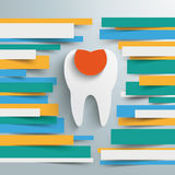Infographic Brochure Paper Lines Tooth Filling Royalty Free Stock Photo