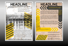 Infographic brochure template with building under construction Royalty Free Stock Images