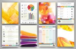 Infographic brochure templates Stock Image