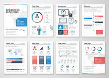 Infographic brochure vector elements collection for business Stock Image