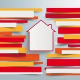 Infographic broszurki papieru linii dom Fotografia Royalty Free
