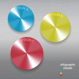 Infographic brushed metallic buttons Stock Photography