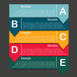 Infographic bubble Square Stock Images