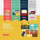 Building Interior Infographic Complex. Infographic Building Interior | Use for building, interior, architecture, industry and much more. The set can be used for Royalty Free Stock Photo