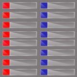 Infographic bunte Papierfahnen des Origamis eingestellt Anmerkungsband Werbung von Designform Vektor Stockfoto