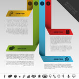 Infographic business abstraction. Element data Template Stock Photo