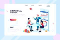 Infographic for Business Adviser Team. Business adviser team. Management of investment, meeting, account, consultant discussion. Data income graph professional vector illustration