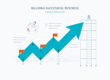 Infographic business arrow shape template design Royalty Free Stock Image