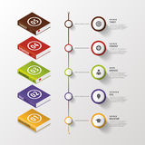 Infographic. Business Books. Colorful circle with icons. Vector Royalty Free Stock Photos