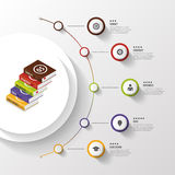 Infographic. Business Books. Colorful circle with icons. Vector Stock Photography