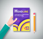 Infographic Business Brochures Banners Set Stock Images