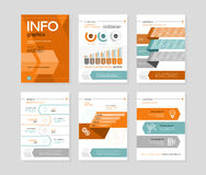 Infographic business brochures banners Royalty Free Stock Photos
