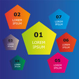 Infographic for business. Colorful infographic for any use Stock Photos