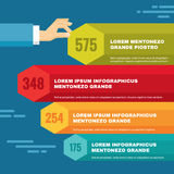 Infographic Business Concept - colored blocks and  Stock Photo