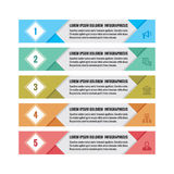 Infographic business concept - colored horizontal vector banners. Infographic template. Infographics design elements Royalty Free Stock Photo