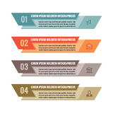 Infographic business concept - colored horizontal vector banners. Numbered options. Infographic template.  Royalty Free Stock Image