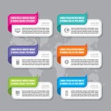 Infographic business concept - colored vector banners. Infographic template. Royalty Free Stock Image