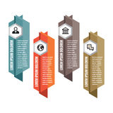 Infographic business concept - colored vertical vector banners. Abstract vector banners.  Royalty Free Stock Photos