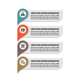 Infographic business concept - colored vertical vector banners. Location information banners. Infographic template. Stock Photos