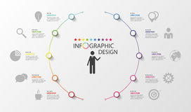 Infographic. Business concept. Colorful circle with icons Royalty Free Stock Image