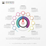 Infographic. Business concept. Colorful circle with icons. Vector Royalty Free Stock Image