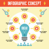 Infographic Business Concept Stock Photos