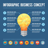 Infographic Business Concept - Creative Idea Illustration Stock Photo