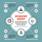 Infographic business concept - creative vector layout with icons. Circles and cycle. Stock Image