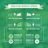Infographic Business Concept in Green Color Royalty Free Stock Photos