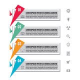 Infographic business concept - Infographic origami vector banners for different design projects. Infographic options banners. Stock Images