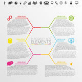 Infographic Business Concept. Polygonal style vector. Illustration Royalty Free Stock Image