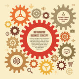Infographic Business Concept for Presentation Royalty Free Stock Photography